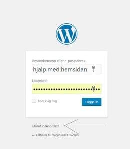 Glömt lösenordet i WordPress - Gör så här!