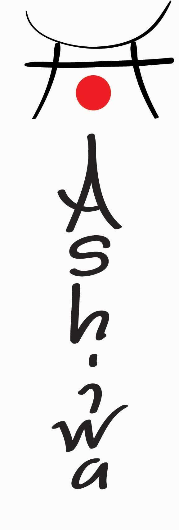 Lodrät Japansk logga Japanskt tecken i logotypen Ashiwa i Stockholm - design Hjälp med hemsidan