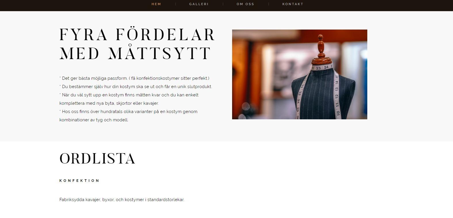 Snygg hemsida 2018 skräddare i Västra Frölunda - Webbyrån Hjälp med hemsidan