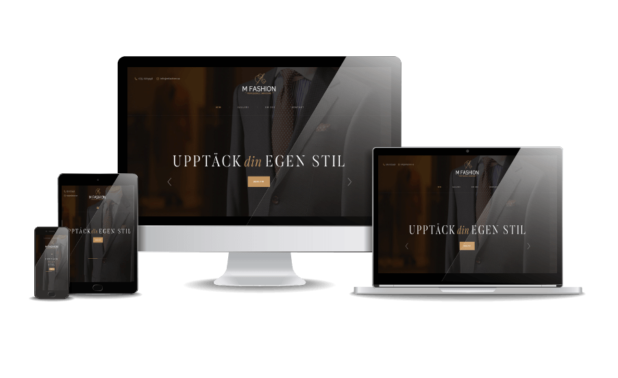 WordPress hemsida - webbdesign Snygga hemsidor 2018 MFashion Göteborg Webbyrån Hjälp med hemsidan