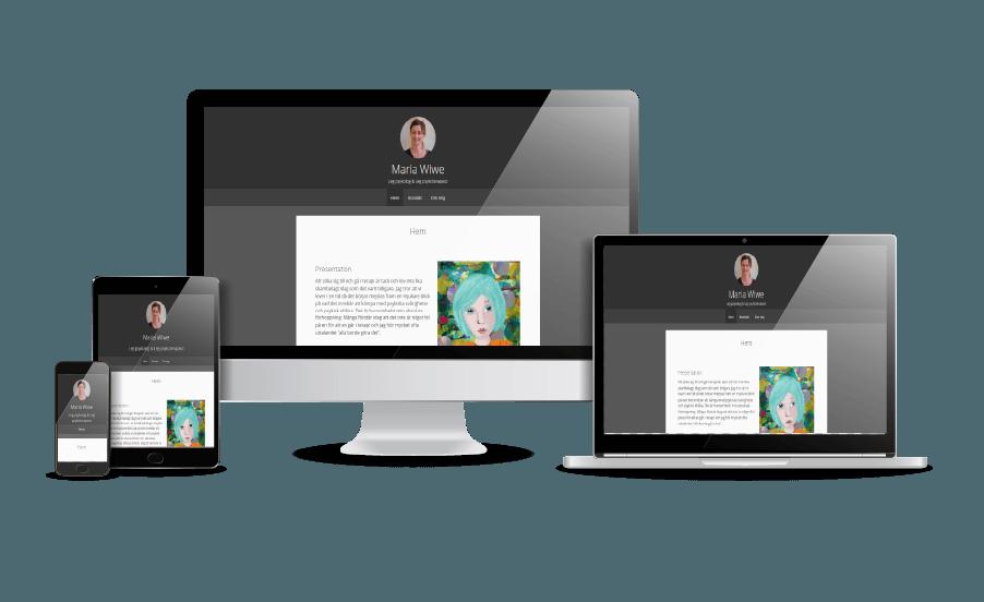Snygga hemsidor 2018 responsiv hemsida exempel Maria Wiwe Psykolog Stockholm