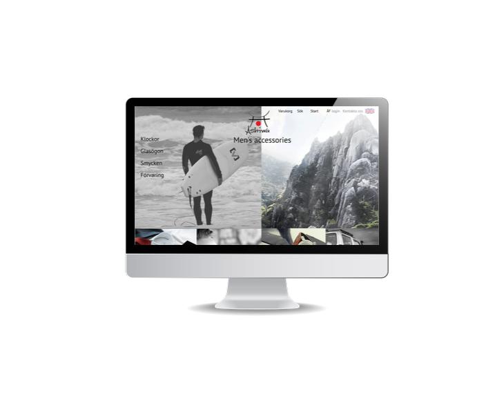 design av hemsida till modeföretag