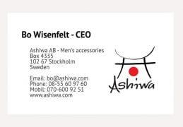 Ashiwa visitkort