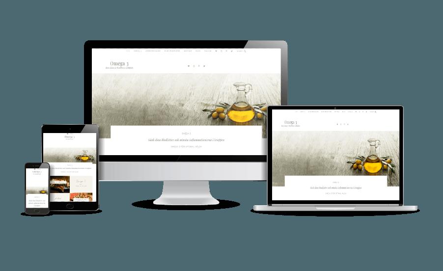 WordPress hemsida - webbdesign Omega-3 Galleri snygga hemsidor webbdesign 2018 - webbdesigner Hjälp med hemsidan