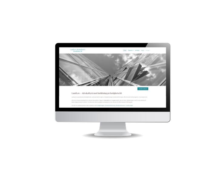 Snygg hemsida till advokatbyrå LandLaw