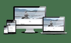 Snygg hemsida webbdesign 2018 Psykolog webbsida
