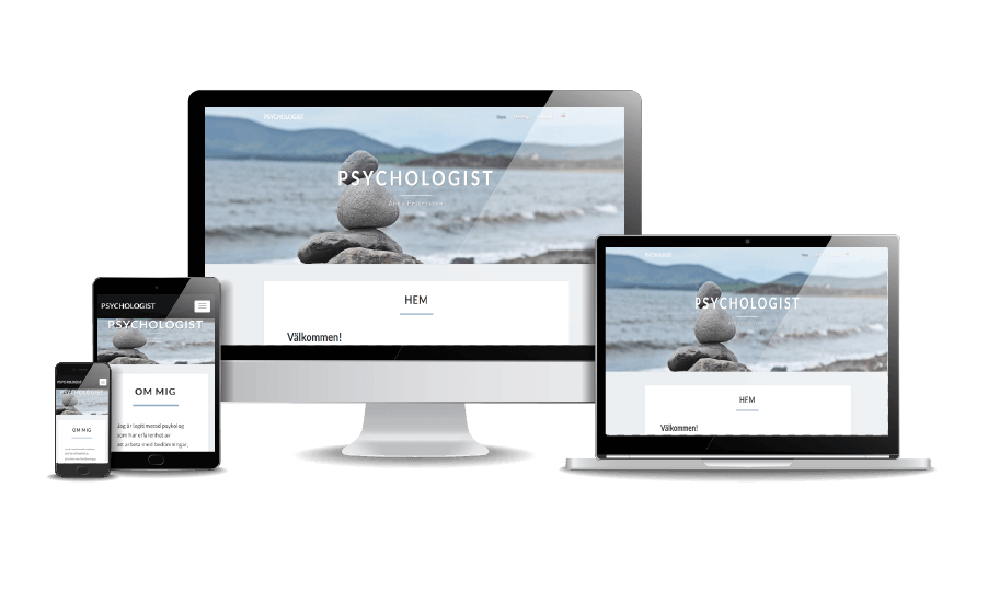 WordPress hemsida - webbdesign Snygg hemsida webbdesign 2018 Psykolog webbsida