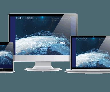 Edgren & Seger hemsida