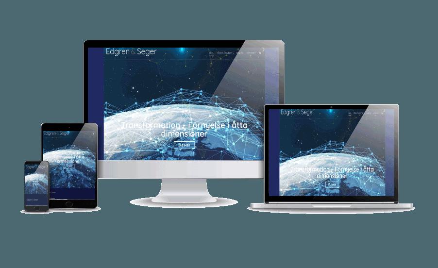 Företagshemsida med snygg design