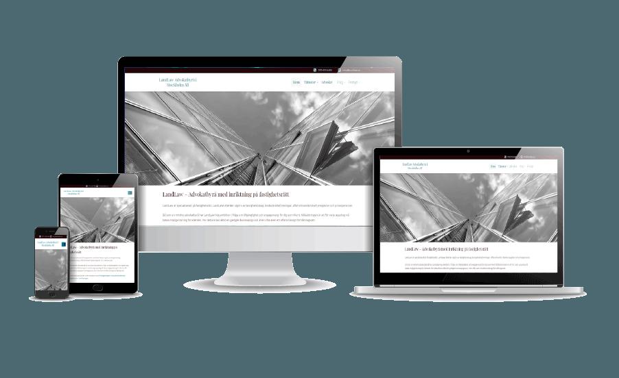 Hemsida företag Företagshemsida Snygga hemsidor 2018 LandLaw Advokatbyrå