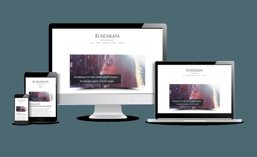 Snygga hemsidor 2018 Webbdesign av Hjälp med hemsidan Kundskapa Stockholm