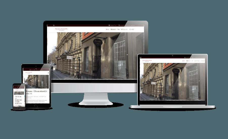 Hemsida till konservator - galleri med snygga hemsidor 2018 webbdesigner Hjälp med hemsidan - en webbyrå i Stockholm -