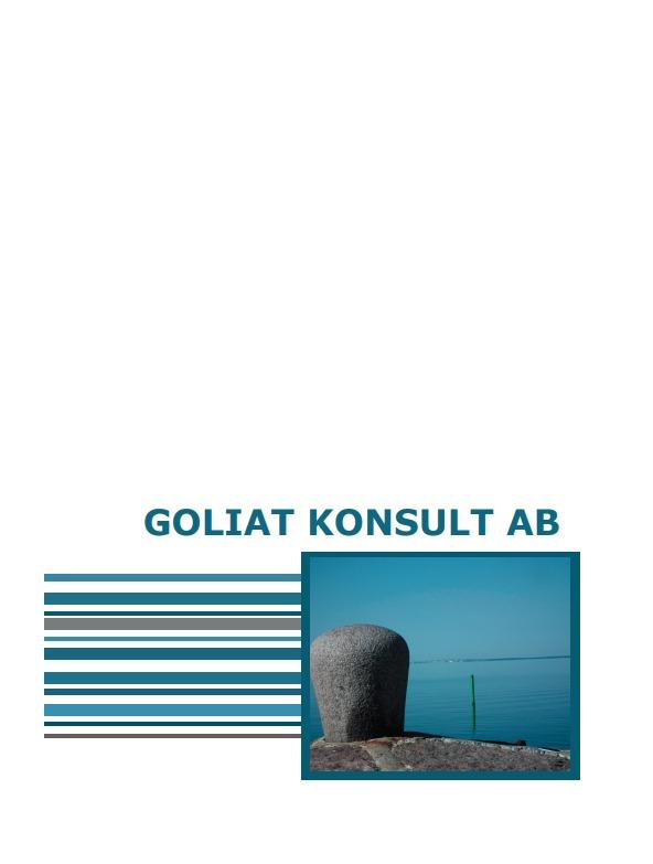 Goliat broschyr trycksaker