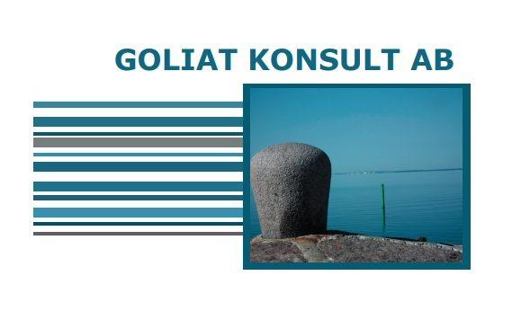 Goliat broschyr trycksaker - design av hjälp med hemsidan