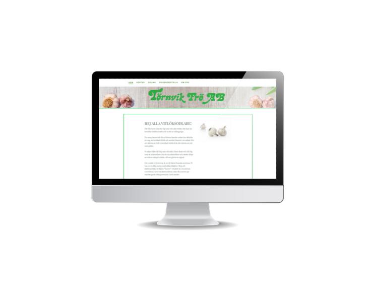 Snygg hemsida till distributör av vitlök