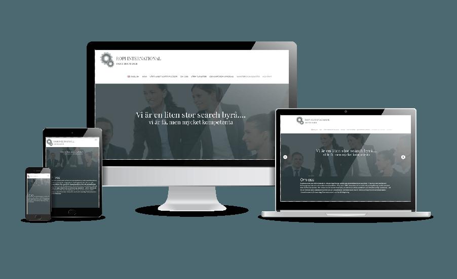 Hemsidor till företag Snygga webbsidor 2018 Ropi Search hemsida webbdesign av Hjälp med hemsidan webbyrå Stockholm & Åkersberga
