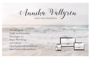 Visitkort trycksaker design Hjälp med hemsidan
