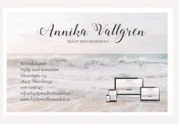 Hjälp med hemsidan visitkort