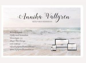 Visitkort till företag visitkort design trycksaker Hjälp med hemsidan webbyrå i Stockholm och Åkersberga