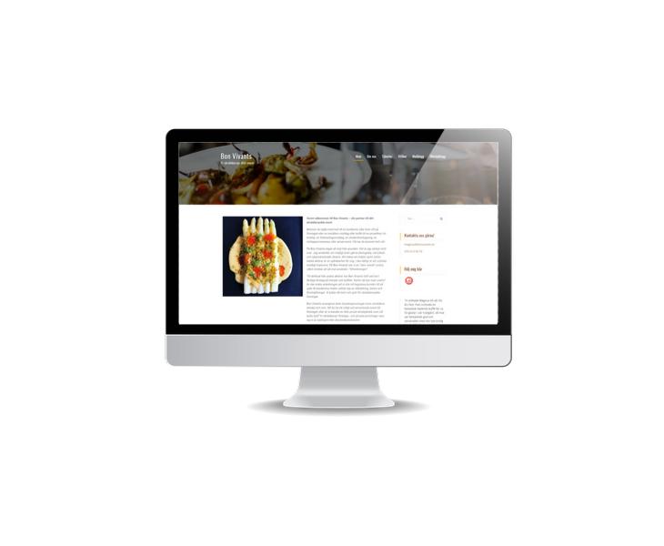 Hemsida till events- och catering företag Bon Vivants