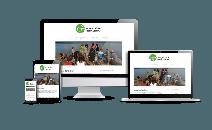 Snygg hemsida 2018 Makalösa föräldrar Webbdesigner Annika Vallgren Hjälp med hemsidan