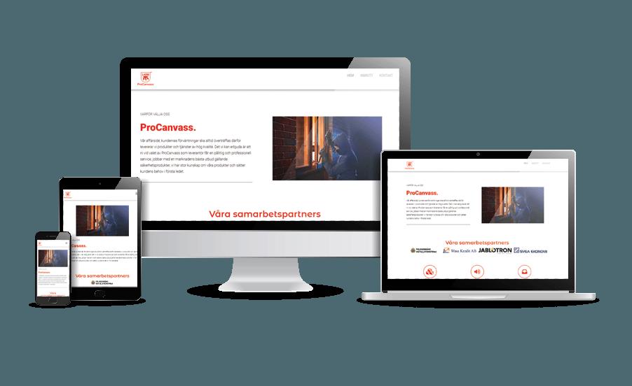 Snygg hemsida 2018 ProCanvass design av webbdesigner Hjälp med hemsidan