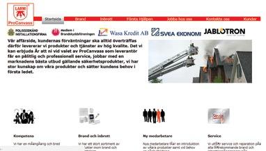 Gammal hemsida som vi moderniserade