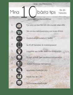 10 bästa tipsen för hemsidan infographics