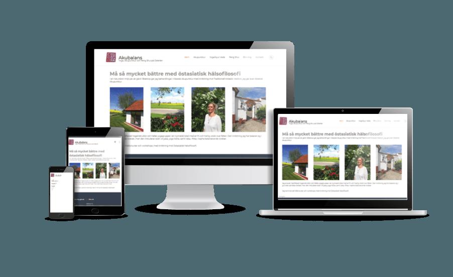 WordPress hemsida - webbdesign Snygga hemsidor 2018 responsiv hemsida exempel Hemsida Yoga och akupunktur på Österlen webbdesigner Hjälp med hemsidan