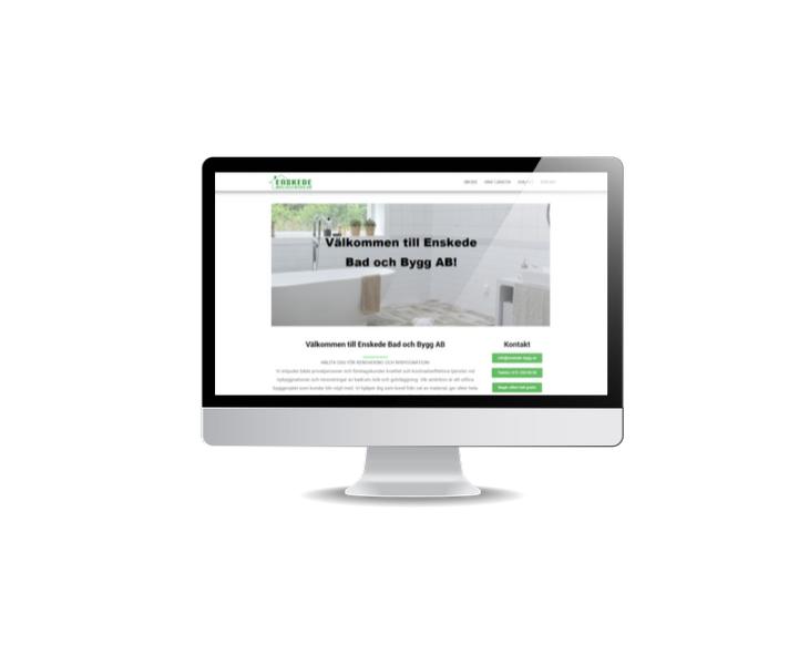snygg hemsida till byggföretag Enskede Bygg