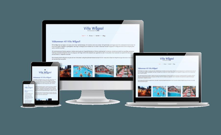 Snygg hemsida exempel hemsida till företag Villa Wågsol Pool och poolevent Hemsida för event