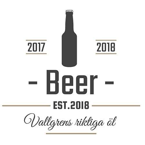 Öletikett med flaska Riktigt öl - öletiketter för egna flaskor