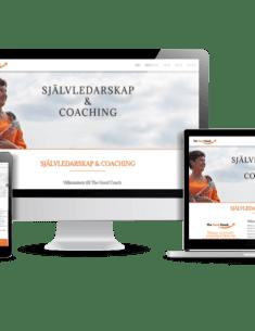 Snygg hemsida till företag - coach - The good coach - webbdesign av Hjälp med hemsidan