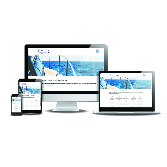 Snygg hemsida till båtservice Lindströms båt och byggservice Webbdesigner Hjälp med hemsidan