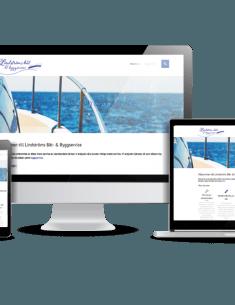 Snygg hemsida till företag Lindströms båt och byggservice Webbdesigner Hjälp med hemsidan