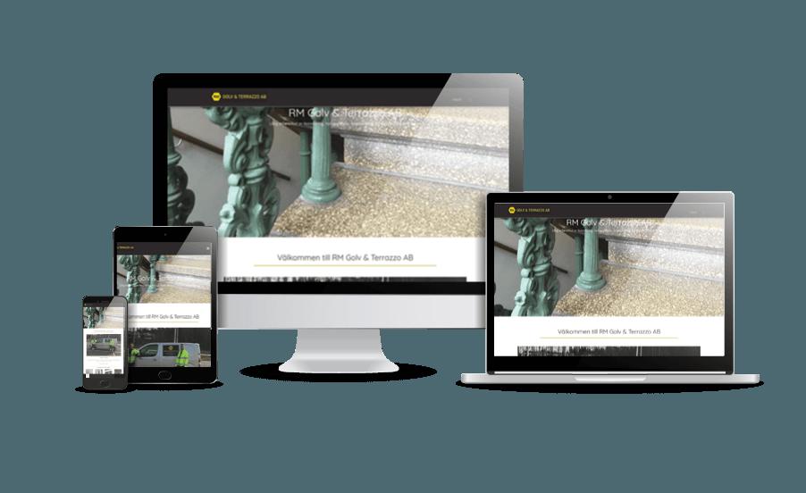 Snygg hemsida till företag RM Golv webbdesigner www.hjalpmedhemsidan.se