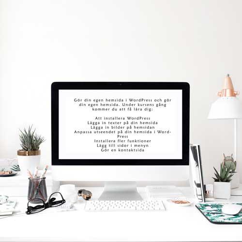 Kurs gör din egen hemsida i WordPress