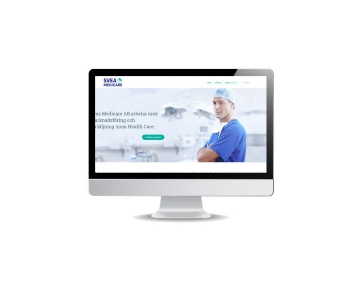 Hemsida till Svea Medicare medicin teknik