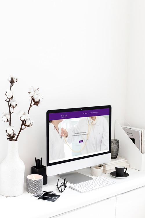 Snygg hemsida till Pretiii Healthcare vårdbemanning