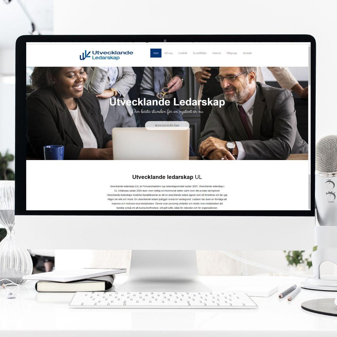 Snygg hemsida till ledarskapsutbildning Utvecklande Ledarskap