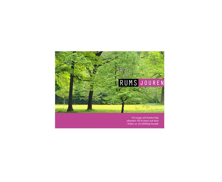 design av broschyr till rums jouren