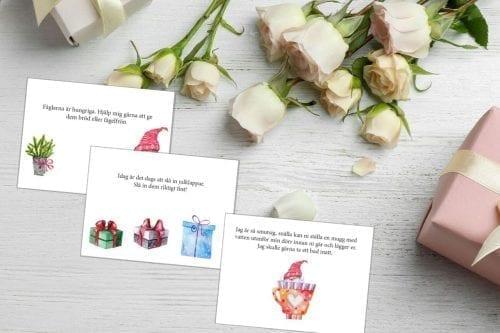 Köpa nissebrev Nissebrev till barnen adventskalender