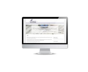 Snygg hemsida till redovisningsföretag