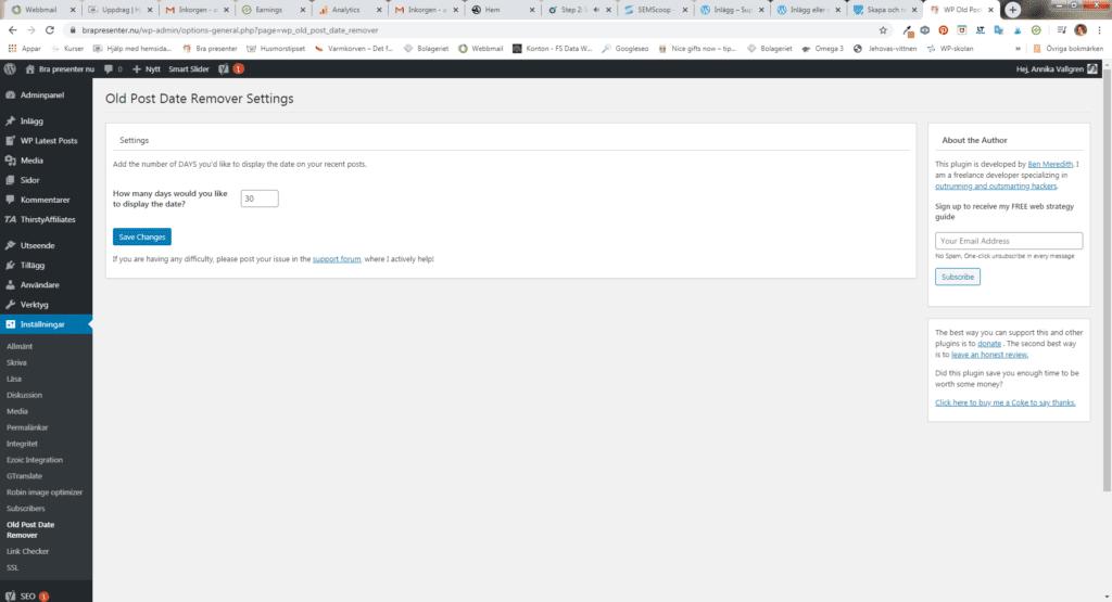 Så här tar du bort datumet på inlägg i WordPress